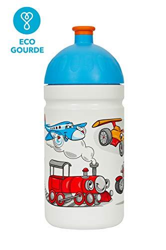 La Borraccia Ecologica per Bambini *MADE IN EU* 0,5L Senza BPA, Senza PHTALATES Bottiglia per Acqua Infrangibile, Durevole e Simpatica! (Bon Voyage)