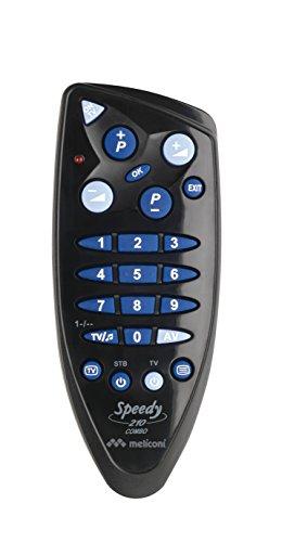 Meliconi SPEEDY 210 COMBO Telecomando Universale, Semplificato 2 in 1 per TV e Decoder Terrestre o Satellitare, Compatibile con Tutte le Principali Marche e Modelli, Facile da Programmare