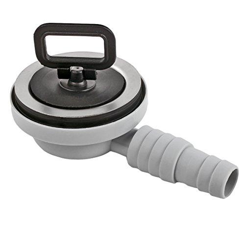Afvoergarnituur roestvrij staal Ø 55 mm met 20/25 mm slangafvoer, 90° afvoerpijp