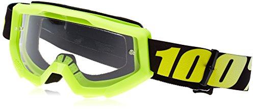 100% Strata, Gafas de bicicleta Unisex adulto, Talla única, Amarillo (Yellow/Transparent)