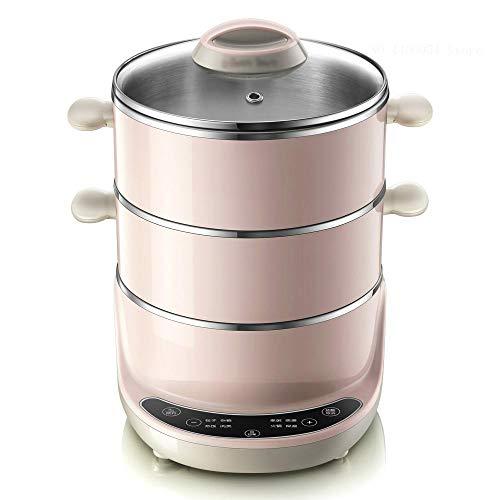XJJZS Hogar Multifuncional pote de cocinar eléctrico 3 Capas Vaporera eléctrica Multi...