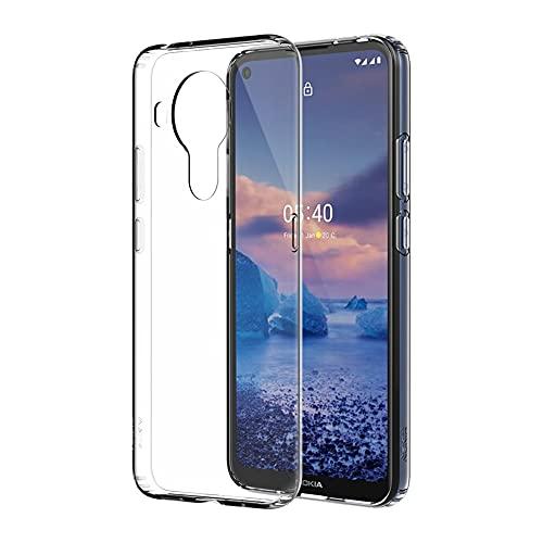 Nokia CC-154 Funda Transparente para Teléfono Diseñada para Nokia 5.4, Funda Protectora para Teléfono, a Prueba de Golpes, Bordes Redondeados para Protección de Pantalla, Transparente