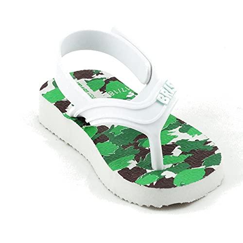 Chanclas de Playa BRASILERAS®,Baby Camu,Hecho en Brazil. Suela Antideslizante del 19 al 26. Bebe para Interior/Exterior.Zapatos de Piscina Verano