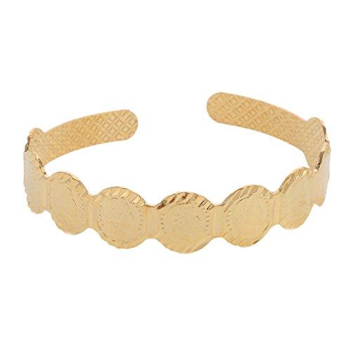 Arabischen Gold Farbe Medaille Armband Frauen Armreif Nahen Osten Head Hochformat Afrika