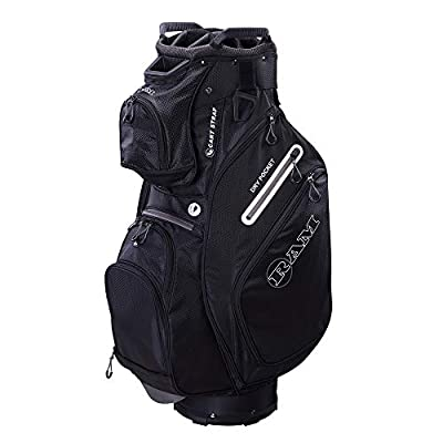 Ram Golf FX Deluxe Golf Cart Bag with 14 Way Full Length Dividers Black/Grey