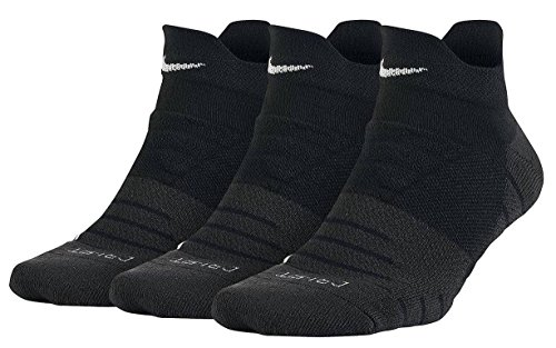 Nike Women's Dry Cushion Low Training Sock (3 Pair) Calcetines, Mujer, Negro/Antracita/Blanco, S