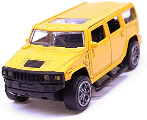 Model auto 11.5cm 1:32 Schaal Metal Alloy Classic Hummer H3 SUV Off Road Auto Model Pull Back Model Auto's en voertuigen Toys F Kinder Giften dljyy ( Color : Yellow )