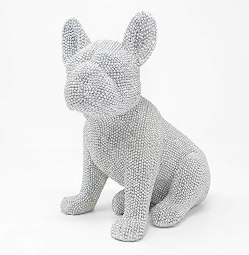 Figura de bulldog francés de purpurina 20cm