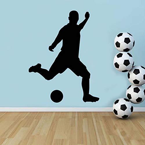 Tianpengyuanshuai voetballer die vinylwandapplicatie wijnoogst-klevende hoofddecoratiewoonkamer kleeft