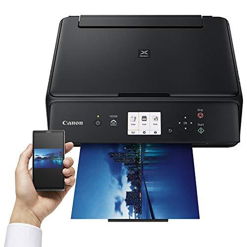 Canon Pixma TS5050 TS-5050 Farbtintenstrahl-Multifunktionsgerät (Drucker, Scanner, Kopierer, USB, WLAN, Apple AirPrint) schwarz + Set IC-Office XL Tintenpatronen 570XL 571XL (Mit 15 XL Patronen)