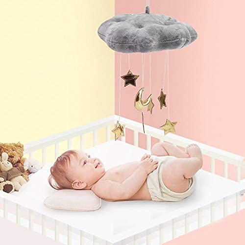 Fdit Nube Colgante Decoración Nube Flotante Colgante con Estrellas deLuna Bebé Cuna Habitación Juego Tienda de Campaña Habitación Decoración de Arte de Pared(Rosado)