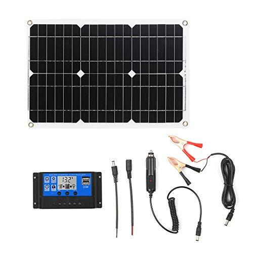 KKmoon 18W 12V Solarpanel Kit Monokristallines Off Grid Modul mit SAE Verbindungskabel Kits für Solarladeregler (Einzelner USB Anschluss)