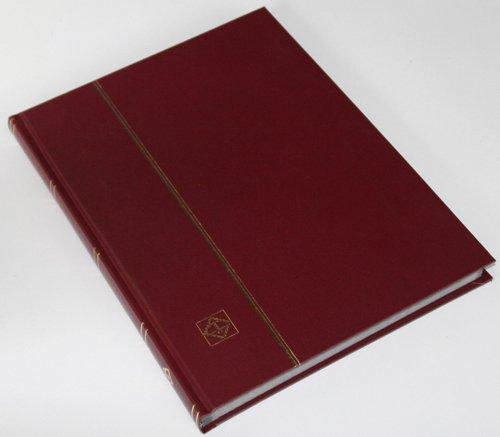 Leuchtturm 32 Schwarze Seiten Einsteckbuch Briefmarkenalbum Einband weinrot