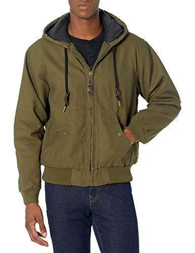 Amazon Essentials Quilted Flannel-Line Work outerwear-jackets, Olive, Medium