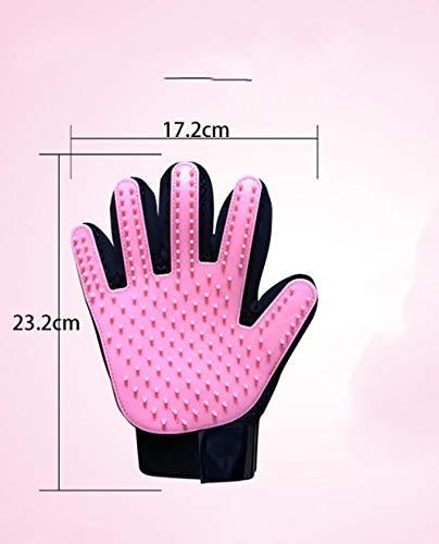 Qianqingkun handschoenen, naast de kammen van hondenhaar, huisdieren voor het zwemmen van handschoenen, Pink-right