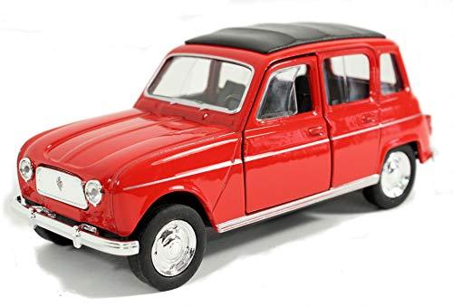 Schaepers Kaleidoskope Modellbil/Renault R4 / med returrätt /1:34/ca 12 cm / fyra färger/röd/vit/blå eller gul / slumpmässigt val / Renault