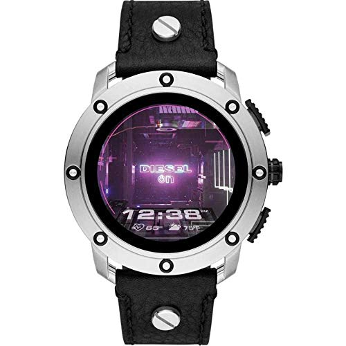 Montre Intelligente connectée à écran Tactile pour Homme Diesel avec Bracelet en Cuir DZT2014 (renouvelée)