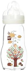 Intrucciones en lengua extranjera - Mam - Botellas de vidrio, 260 ml, 0-6 meses Tipo de flujo 2, Color: Blanco