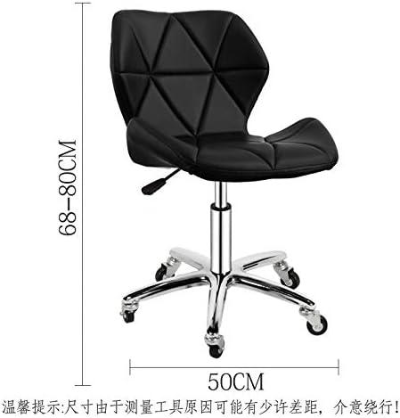 Simili cuir pivotant chaise de bureau d'ordinateur réglable gaz ascenseur tabouret à la maison bureau d'étude salle meubles (Color : Color8) Color5