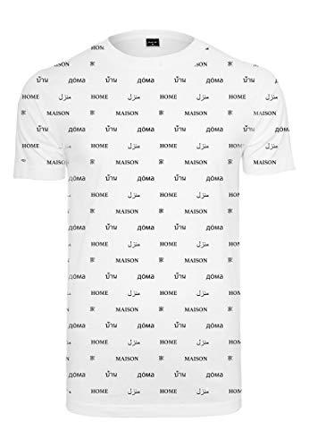 Mister Tee Herren Home T-Shirt, White, L