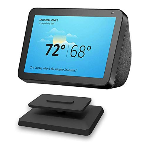 Soporte para Echo Show 8, ELPHA ajustable soporte accesorios para altavoz Amazon Alexa, accesorio magnético, giro de 360 grados, función de inclinación, base antideslizante, lanzamiento 2020, color negro