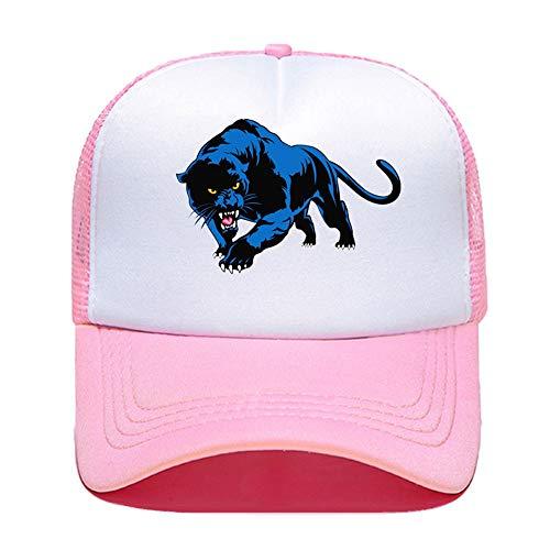 ZZDGFC Baseballmütze Männer Frauen Blue Panther Print Baseball Cap Casual Hüte Mesh Visier Outdoor Sonnenhut Verstellbare KappenPink