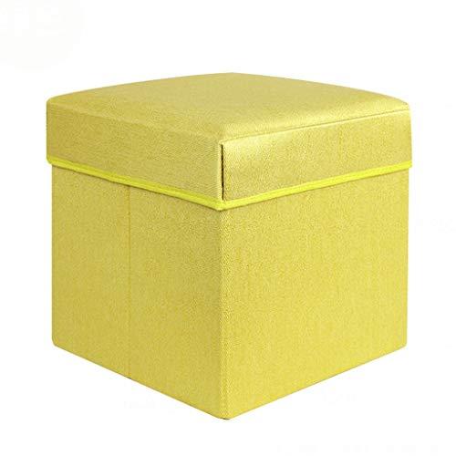 Wddwarmhome Tabouret de Rangement pour boîte de Rangement, Pouf Pliable, en Tissu Non tissé - Poids Maximal 100 kg - Facile à Nettoyer (Couleur : Green, Taille : 50 * 32 * 31cm)