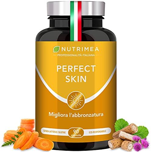 Perfect Skin   Acceleratore Abbronzatura   Protegge Pelle Dal Sole   Idrata Pelle   Prolunga Abbronzatura   Acne   Pelle Grassa   Integratore Betacarotene   90 Capsule Di Origine Vegetale