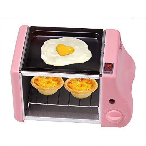 L.TSA Küche Multifunktions Mini Elektro Backen Bäckerei Braten Backofen, Grill Spiegeleier Omelett Bratpfanne Frühstücksmaschine Brotbackmaschine Toaster, 1,5 l Mini Frühstücksofen, erhältlich in