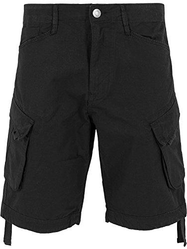 Urban Classics Herren Sport Shorts Hosen Cargo Twill Shorts schwarz (Black) ,32 (M)
