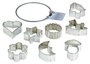 KAISER Ausstechform Ring mittel Weihnachten Premium Qualität aus rostfreiem Edelstahl leichtes, präzises Ausstechen sichere, angenehme Handhabung
