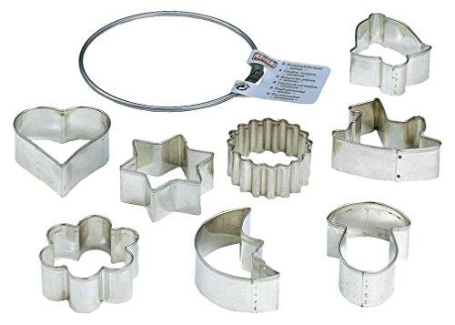 Kaiser Ausstechformen-Ring, mittel 8-teilig Weihnachten Starter-Set Ausstecher für Kekse, Plätzchen unterschiedliche Größen