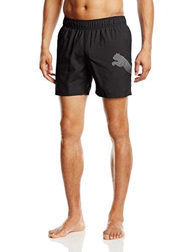 PUMA Jungen Badeshorts Active Big Cat Beach Shorts M, Black-Black, 5 Years