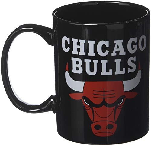 La Plume Dorée Mug Logo Chicago Bulls NBA Boite individuelle Mixte Enfant, Noir