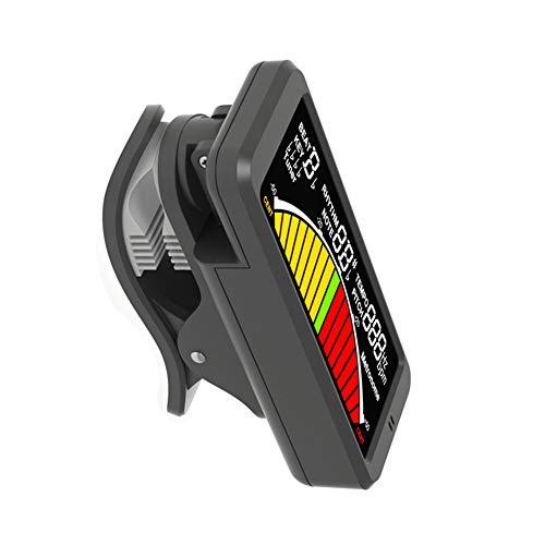 JZWX Gitarre Großes Farbdisplay Stimmton Metronom-Stimmgerät DREI-in-Einem-Clip-Stimmgerät Gitarre/Bass/Violine, klares LCD