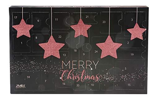 ZMILE Cosmetics cosmetica-adventskalender 24 deurtjes 'Sparkling Stars' roségoud, 46 g