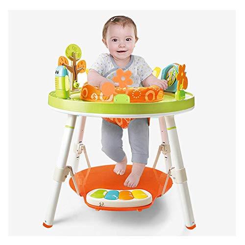 ZXYSHOP Baby höhenverstellbares Spring- und Spielcenter mit Lichtern, Melodien und mehr als interaktiven Spielzeugen