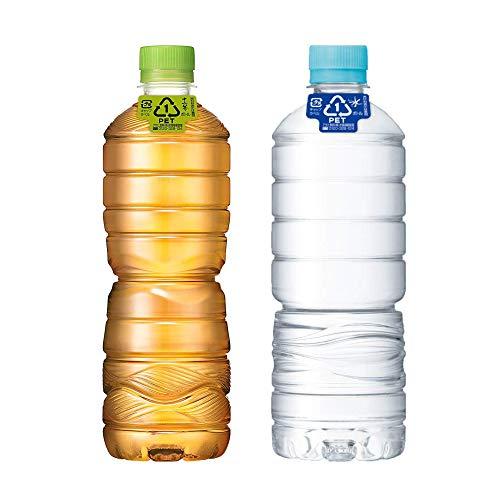 【セット買い】おいしい水 天然水 ラベルレスボトル PET600ml×24本 + 十六茶 ラベルレスボトル 630ml ×24本