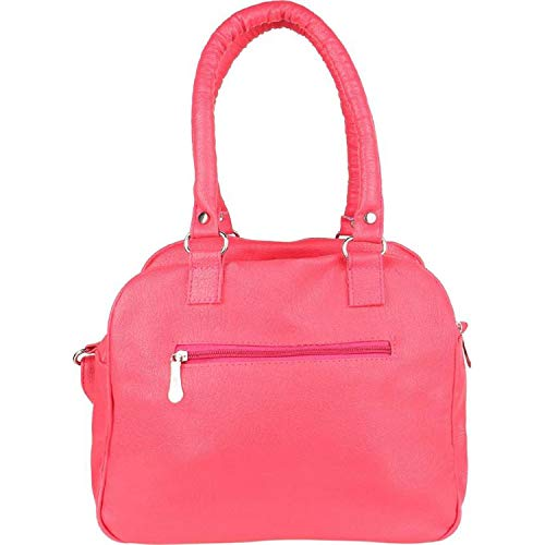 Tugud Handbags cum Shoulder Bags and Clutch Combo for Girls and Women (Pink Color)
