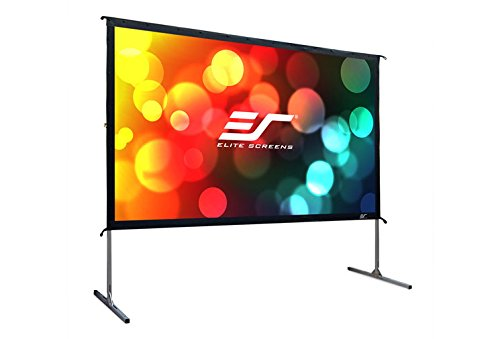 ELITE SCREENS mobile outdoor frame screen Yard Master 2 front/rear projection 222 x 125 cm, 16:9 format 100 inches, OMS100H2-DUAL