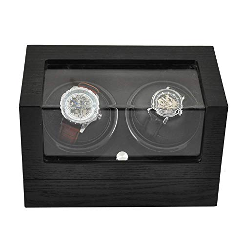 Dual Automatic Watch Winder with Double Quiet Mabuchi Motors,Watch Box in...