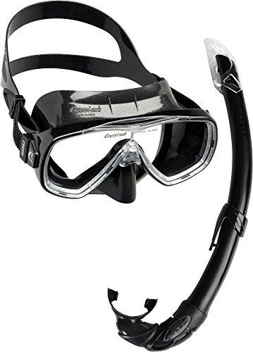 Cressi Unisex-Erwachsene Onda Mare Schnorchelset Tauchset Taucherbrille, Schwarz, Einheitsgröße