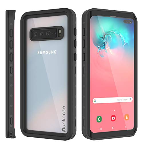 Punkcase Galaxy S10 5G Waterproof Case [StudStar Series] [Slim Fit] [IP68 Certified] [Shockproof] [Dirt Proof] Armor Cover W/Built in Screen Protector Compatible W/Samsung Galaxy S10 5G [Clear]