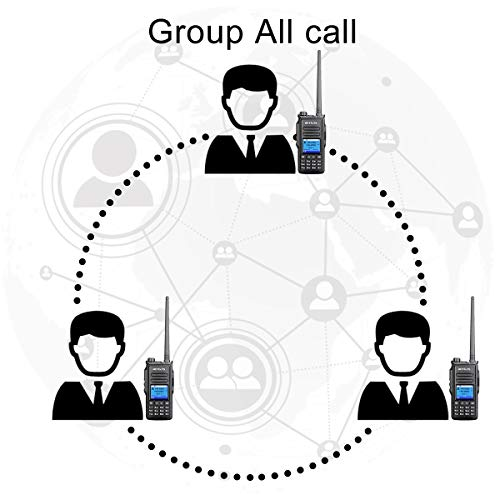 Retevis RT72 DMR Radios, Ham Digital 2 Way Radio Long Range,VHF UHF High Power Alarm SMS 1024 CH 1700mAh Dual Time Slot Group Call,for Travel Factory Emergency Rescue(1 Pack)