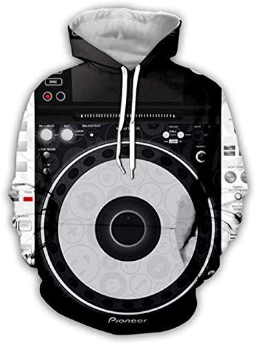 yyqx container 3D Sweatshirt Hoodie Dj Audio Unisex Hooded Casual Hoodies Mode Sweatshirt 3D Printing Hoodie Opvallende Truien met Kangoeroe Pocket