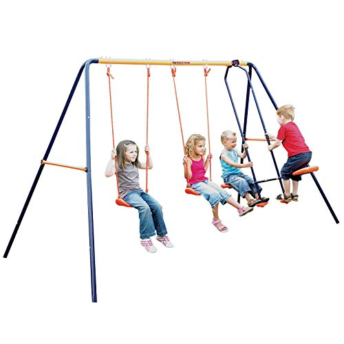 MV Sports Childrens Hedstrom Double Swing & Glider New Outdoor Garden Kids MultiPlay Set