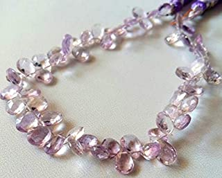 "Jewel Beads Natural Beautiful jewellery Pink AMETHYST faceted beads, pear shaped beads - 5X7 mm - 5X8 mm 8"" strand,[E2140]very good qualityCode:- JBB-7292"