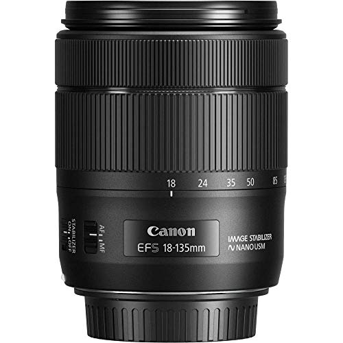 Canon Obiettivo con Zoom, EF-S 18-135 mm f/3.5-5.6 IS USM, Nero/Antracite