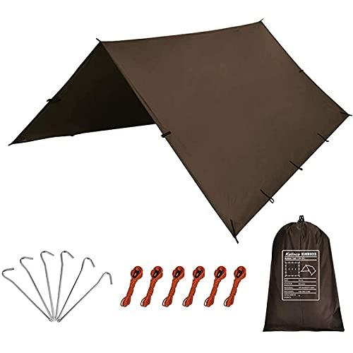 KALINCO Lona impermeable para camping, tienda de campaña, 10 x 10 pies, lona ligera para camping, senderismo y refugio de supervivencia