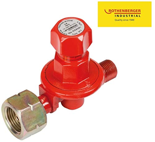 Rothenberger Propan Druckminderer, stufenlos verstellbar von 0,5 bis 4 bar, max. 8kg/h, G3/8'L